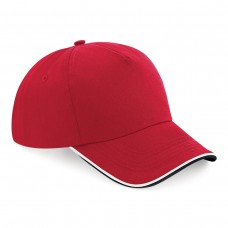 B25C Authentic 5 Panel Cap - Piped Peak